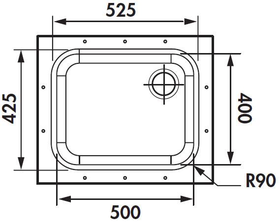Fregadero de acero inoxidable bajo encimera luisina - Dimensiones fregadero ...