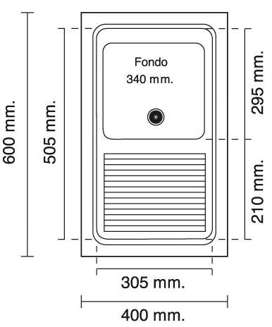 Lavadero sint tico sobre encimera poalgi silex 600 x 400 for Lavadero medidas