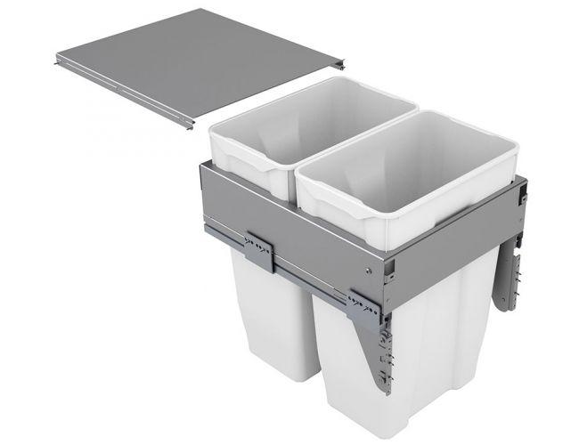Cubo de basura Cucine Oggi Quadrifoglio con guias - 70 litros - Ref. 571