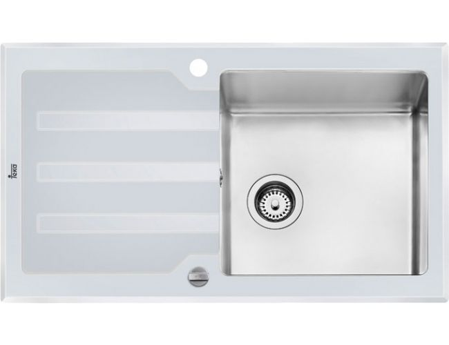 Fregadero de cristal Teka Lux 1C 1E 86 WHITE - 860 x 510 - Ref.12129012
