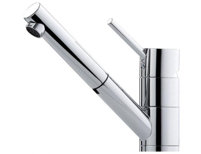 Grifo de cocina Luisina RC600P/DO - Monomando cromado con ducha. Caño pivotante