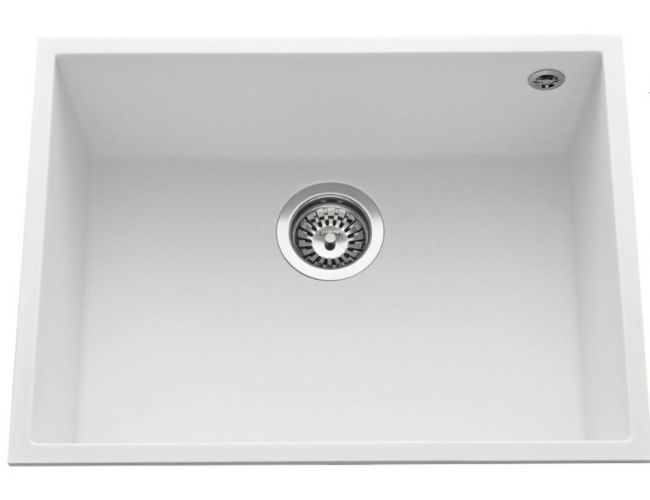Fregadero de granito bajo encimera Luisina Quadrille EVSP985 - 580 x 440 mm