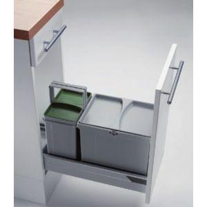 Kit de cubos apropiado para gavetas entre 300 mm y 600 mm con tapete antideslizante. PV30-2