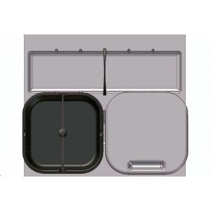 Sistema de Reciclaje - Cubos para gaveteros Serie 3 - 39050