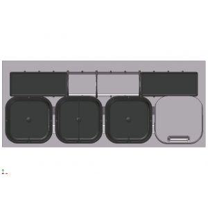 Sistema de Reciclaje - Cubos para gaveteros Serie 3 - 39068