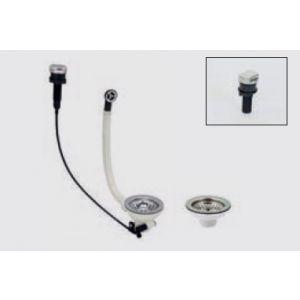 Válvula para fregadero automática 2 senos - Poalgi Ref. 83-86016 maneta redonda