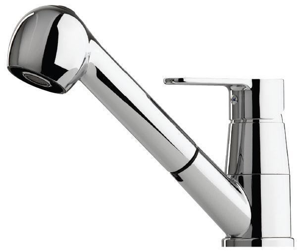 Grifo de cocina Luisina RC183/DO - Monomando cromado con ducha