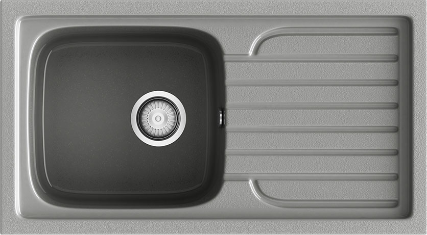 Fregadero sintético sobre encimera Poalgi Basic Topacio 116 - 800 x 440
