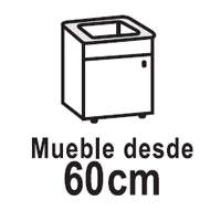 Para muebles desde 60Cm