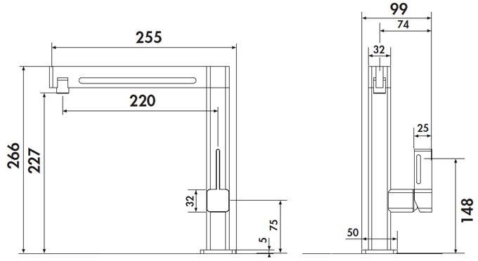 Grifo de cocina Luisina RCD473 - Monomando cromado de diseño