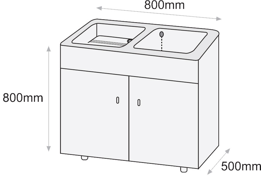 Mueble para lavadero syan thor 800 x 500 x 800mm melamina - Pilas de lavar con mueble ...