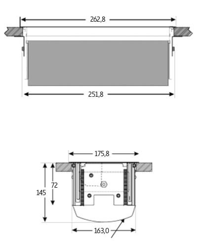 Enchufe de cocina CucineOggi energy box Abatible  IL 900 -   3 Enchufes  Tapa de Aluminio.
