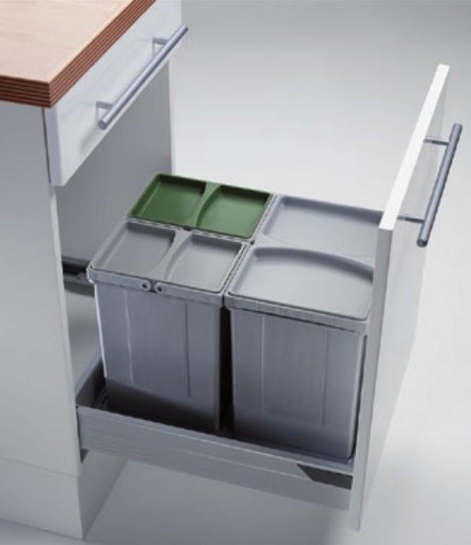 Kit de cubos para gavetas entre 450-600mm Cucine Oggi PV45-2
