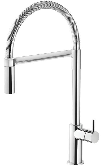 Grifo de cocina Luisina RCD320 - Monomando cromado con ducha