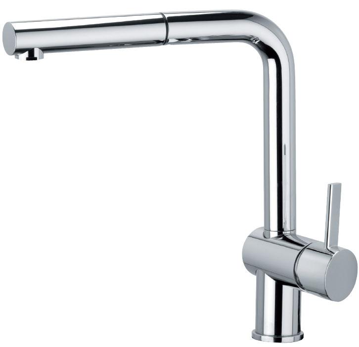 Grifo de cocina Luisina RCD214/DO- Monomando cromado con ducha. Caño orientable