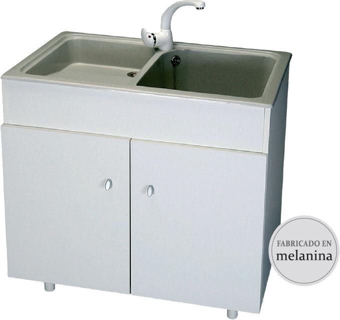 Mueble para lavadero syan thor 800 x 500 x 800mm melamina for Lavadero precio