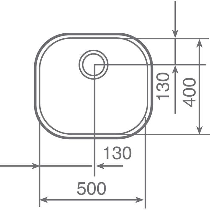 Medidas fregadero bajo encimera TEKA BE 50.40 - 10125001