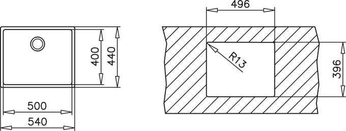 Fregadero TEKA bajo encimera BE LÍNEA R15 50.40 - 10125134