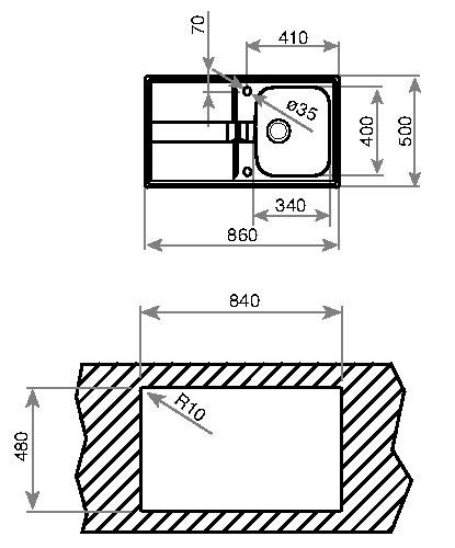 Fregadero TEKA Stena 45 B - 10131004 (Reversible) / 11131004 (D) / 11131012 (I)